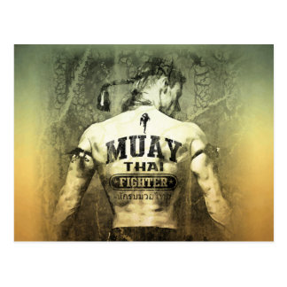 Vintage Muay Thai Fighter Postcard