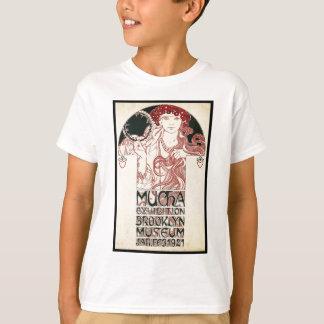 Vintage Mucha Exhibition Brooklyn Poster T-Shirt