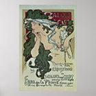 Vintage Mucha Salon des Cent art expo Poster