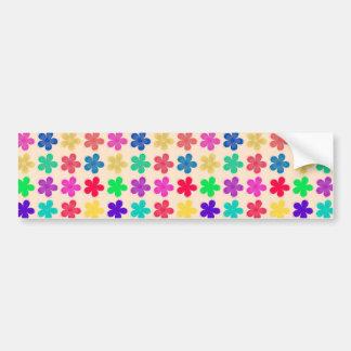 Vintage Multi Colored Floral Pattern Bumper Sticker