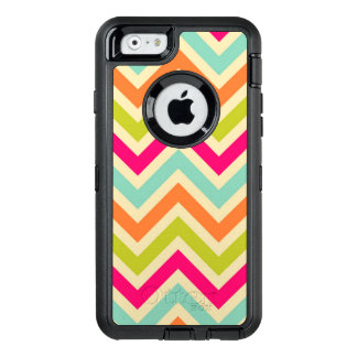 Vintage Multicolor Chevron Pattern OtterBox Defender iPhone Case