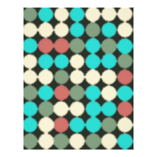 Vintage Multicolored Circles. Geometric Pattern Custom Flyer
