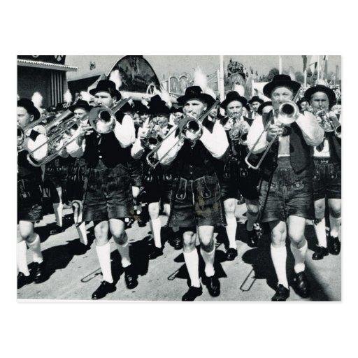 Vintage Munich, Oktoberfest, Marching band Post Cards