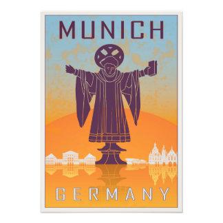 Vintage Munich poster Art Photo