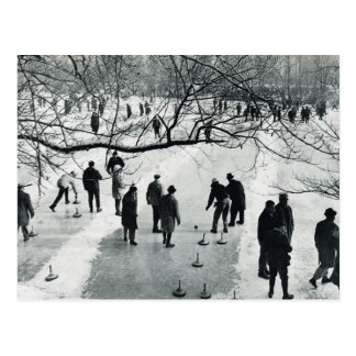 Vintage Munich, winter,  Games on the ice Postcard