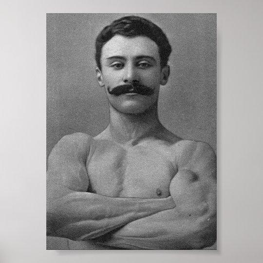 Vintage Muscle Bodybuilder Strongman Poster