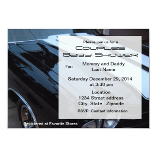 Vintage Muscle Car Baby Shower Invitation