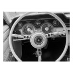 Vintage Muscle Car Dashboard Print