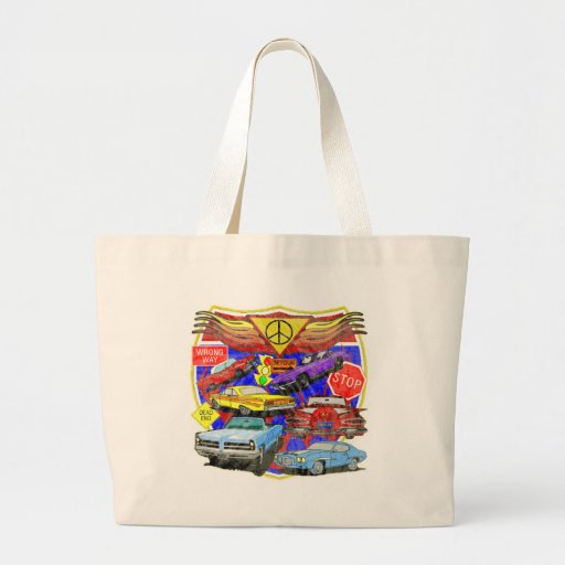 Vintage Muscle Cars Of Yesterday Canvas Bag