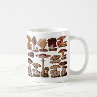 Vintage Mushroom Basic White Mug