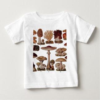 Vintage Mushroom Family Botanical Print Baby T-Shirt