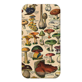 Vintage Mushroom Guide 4  iPhone 4 Case