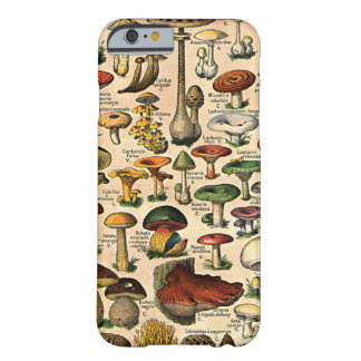 Vintage Mushroom Guide iPhone 6 Barely There iPhone 6 Case