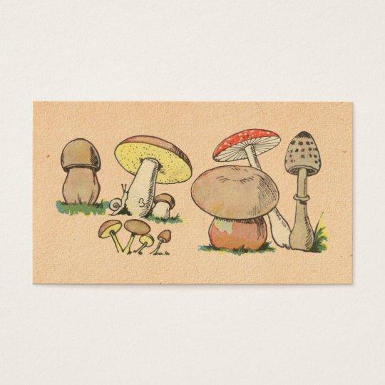 Vintage Mushroom Print Business Card