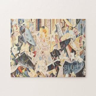 Vintage Music, Art Deco Jazz, Rhapsody in Blue Jigsaw Puzzle