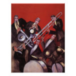 Vintage Music, Art Deco Musical Jazz Band Jamming Invites