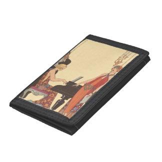 Vintage Music, Art Deco Pianist Musician Singer Wallet