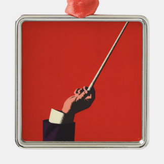 Vintage Music, Conductor's Hand Holding a Baton Christmas Ornament