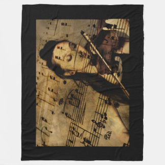 Vintage Music Fleece Blanket
