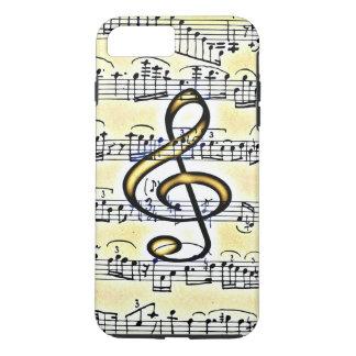 Vintage Music Gold Color Treble Clef iPhone 8 Plus/7 Plus Case
