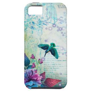 Vintage Music Hummingbird lavender teal mauve blue Case For The iPhone 5