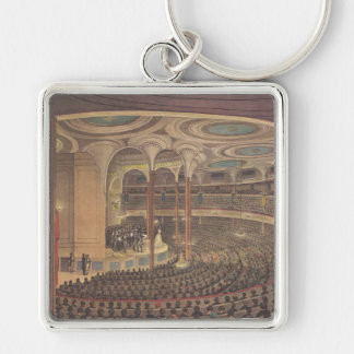 Vintage Music, Jenny Lind, Swedish Opera Singer Silver-Colored Square Key Ring