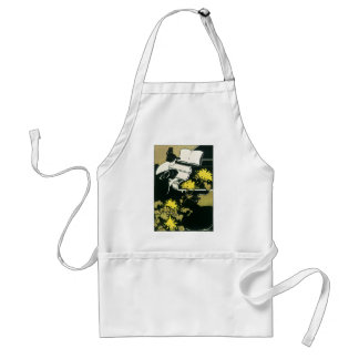 Vintage Music, Miss Traumerei Playing Piano, Reed Standard Apron