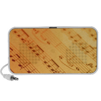 Vintage music note paper speakers