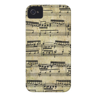 Vintage Music Notes iPhone 4 Cover
