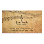 Vintage Music Notes Music Business Card
