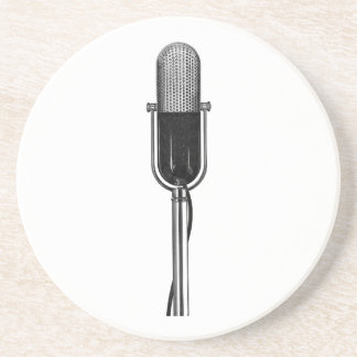 Vintage Music, Old Fashoined Retro Microphone Coaster