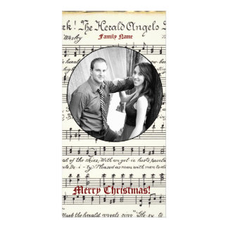Vintage Music Photo Christmas Card Photo Card Template