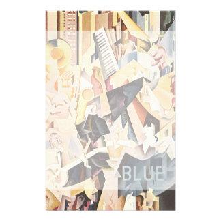 Vintage Music, Rhapsody in Blue Art Deco Jazz Custom Stationery