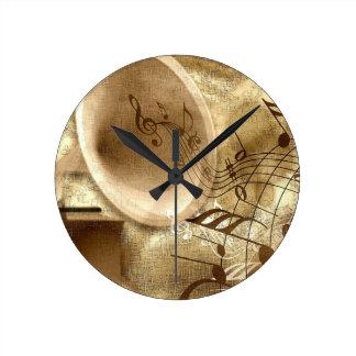 Vintage Music Round Clock