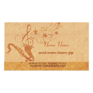 Vintage Music Saxophone Horn Musical Instruments Pack Of Standard Business Cards
