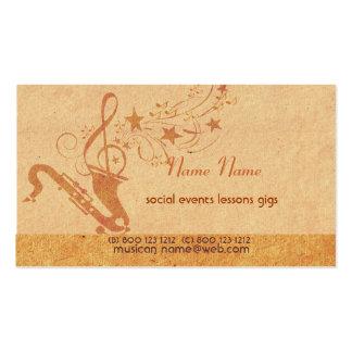 Vintage Music Saxophone Horn Musical Instruments Pack Of Standard Business Cards
