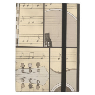 Vintage Music Sheet and Pop Art Abstract Guitar iPad Cases