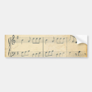 Vintage Music Sheet Bumper Sticker