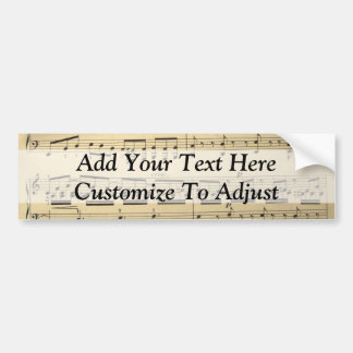 Vintage Music Sheet Bumper Stickers
