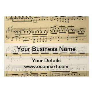 Vintage Music Sheet Business Card