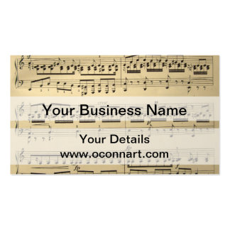 Vintage Music Sheet Business Card Templates