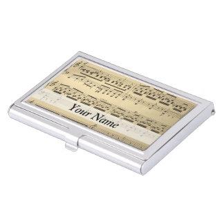 Vintage Music Sheet Business Card Holders