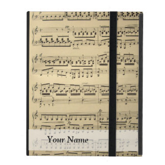 Vintage Music Sheet Case For iPad