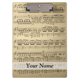 Vintage Music Sheet Clipboards