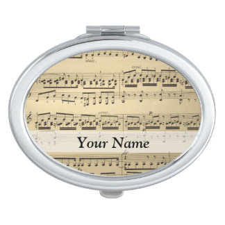 Vintage Music Sheet Compact Mirrors