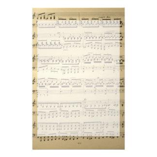 Vintage Music Sheet Customized Stationery