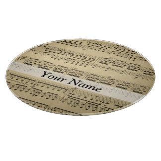 Vintage Music Sheet Cutting Board