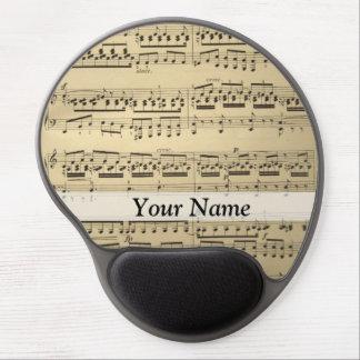 Vintage Music Sheet Gel Mouse Pad