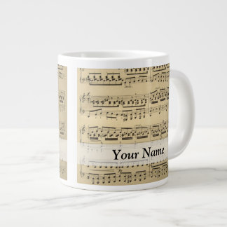 Vintage Music Sheet Jumbo Mug