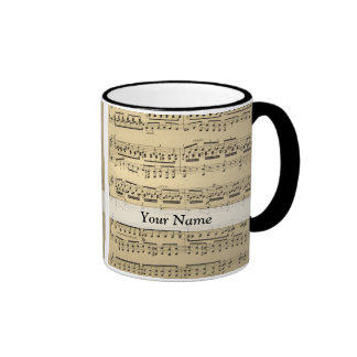 Vintage Music Sheet Mugs